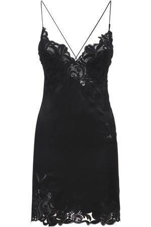ERMANNO SCERVINO Silk Satin & Lace Mini Slip Dress