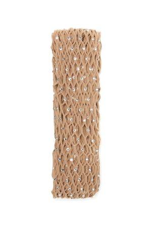 Wolford X Amina Muaddi Women Stockings - Crystal Fishnet Tights - Womens