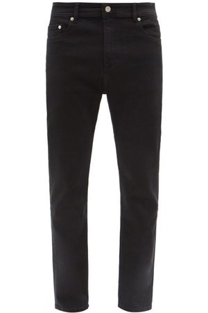 Maison Kitsuné Men Slim - Logo-patch Slim-leg Jeans - Mens