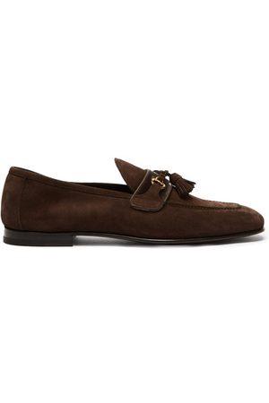 Tom Ford Men Loafers - Tasselled Suede Loafers - Mens - Dark