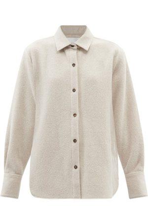 Frame Oversized Recycled Wool-blend Shirt Jacket - Womens - Ivory