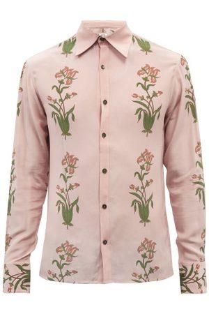 73 London Floral-print Silk-georgette Shirt - Mens - Print