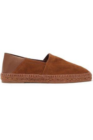 Tom Ford Men Espadrilles - Leather-trim Suede Espadrilles - Mens - Tan