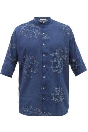 11.11/eleven eleven Men High Necks - High-neck Bandhani-dyed Organic Cotton Shirt - Mens - Print