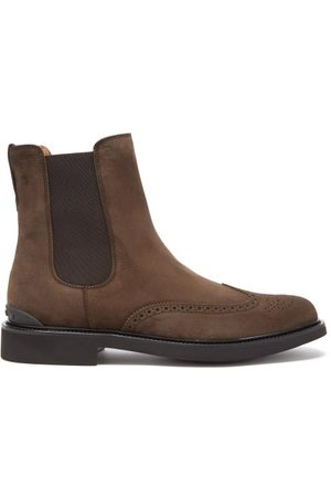 Tod's Suede Chelsea Boots - Mens - Dark