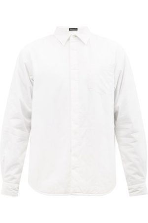 UNDERCOVER Men Shirts - Concealed-placket Padded Cotton Shirt - Mens