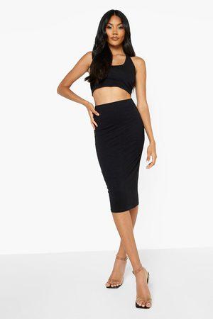 Boohoo Womens Midi Jersey Tube Skirt - - 2