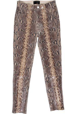 RTA Leather slim pants