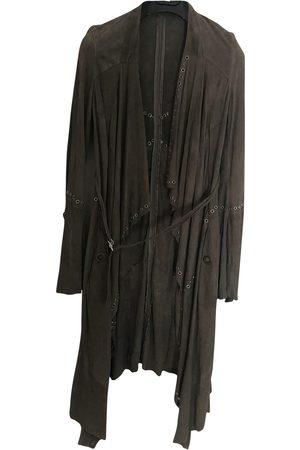 Roberto Cavalli Grey Suede Jacket