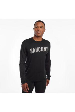 Saucony Men Long sleeves - Men's Stopwatch Long Sleeve BlackScreenprint