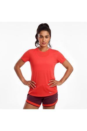 Saucony Women Shorts - Women's Stopwatch Short Sleeve Poinciana