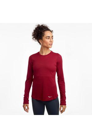 Saucony Women Long sleeves - Women's Stopwatch Long Sleeve Rhubarb