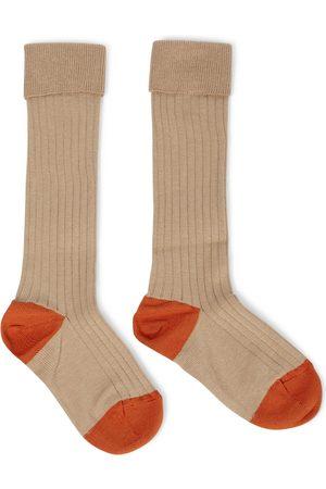 Caramel Baby Child Rib cotton-blend socks