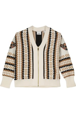 Burberry Intarsia-knit wool and cashmere cardigan