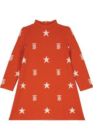 Burberry Intarsia-knit wool-blend dress