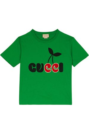 Gucci Logo-embroidered cotton jersey T-shirt