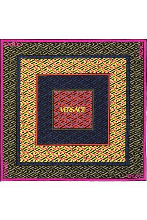 VERSACE Silk twill logo scarf