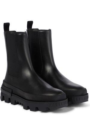 Moncler Women Chelsea Boots - Coralyne leather Chelsea boots