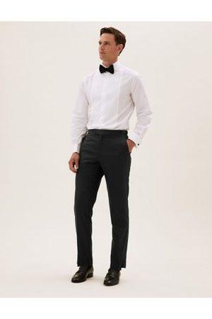 Marks & Spencer Men Formal Pants - Regular Fit Pure Wool Trousers