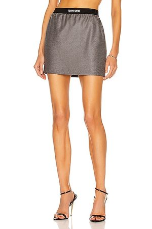 Tom Ford Tailored Cashmere Mini Skirt in Grey