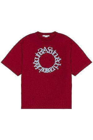 Acne Studios Short Sleeve T-Shirt in Burgundy