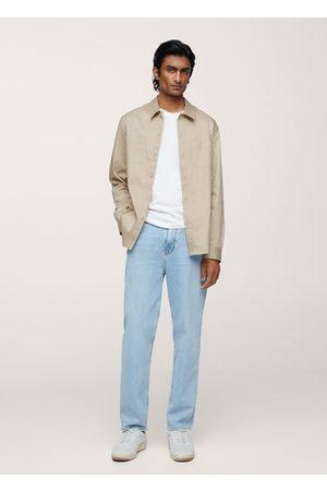 MANGO Cotton lyocell shirt with pockets
