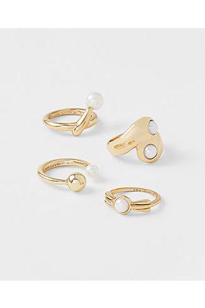 ANN TAYLOR Women Rings - Pearlized Ring Set