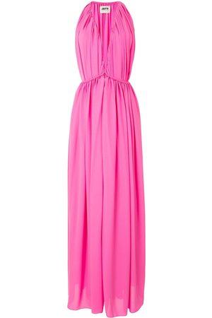 MAISON RABIH KAYROUZ Women Evening dresses - Gathered v-neck gown