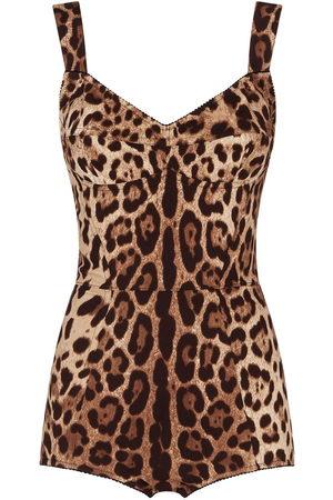 Dolce & Gabbana Women Lingerie Bodies - Leopard-print fitted bodysuit