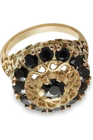 Dolce & Gabbana Women Rings - 18kt yellow black sapphire cocktail ring