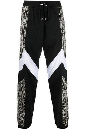 Balmain Men Sweatpants - Multicuts monogram track pants