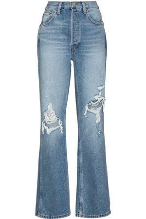 RE/DONE Women High Waisted - 90s high-rise straight-leg jeans