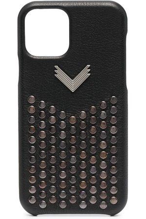Manokhi Phones Cases - Studded leather iPhone 11 Pro case
