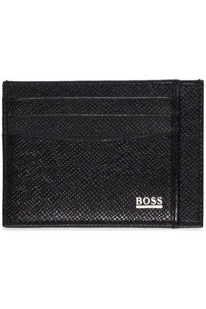 HUGO BOSS Men Wallets - Logo-plaque leather cardholder