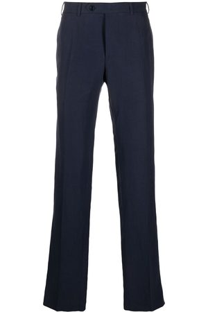 CANALI Straight-cut linen-blend trousers