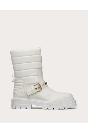 VALENTINO GARAVANI Women Ankle Boots - Waterproof Calfskin And Technical Nylon Rockstud Ankle Boot 20mm Women 100% Poliammide 37