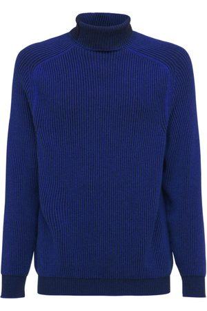Sease Men Turtlenecks - Cashmere Reversible Roll Neck Sweater