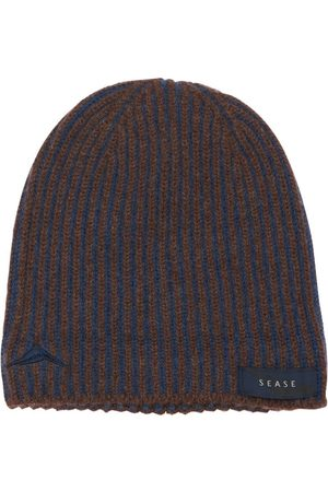 Sease Men Beanies - Ribbed Cashmere Reversible Beanie