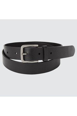 UNIQLO Men Belts - Men's Italian Leather Vintage Narrow Belt, , M