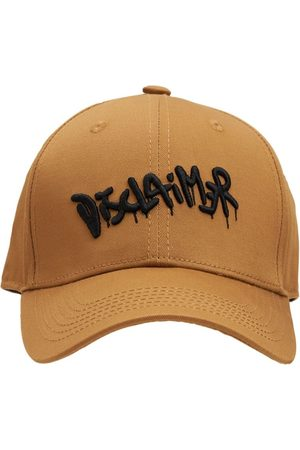 DISCLAIMER Logo Printed Cotton Baseball Hat