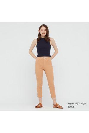 UNIQLO Women Stretch Pants - Women's Ultra Stretch Cropped Leggings Pants, Orange, XXS