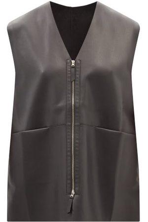 The Frankie Shop Nerea Zip-front Faux-leather Vest - Womens