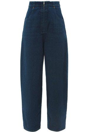 MM6 MAISON MARGIELA Women High Waisted - High-rise Wide-leg Jeans - Womens - Denim