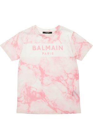 Balmain Girls T-shirts - Tie Dye Cotton Jersey T-shirt