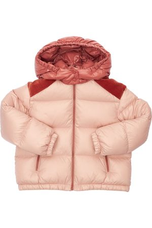 Moncler Girls Jackets - Chouelle Hooded Nylon Down Jacket
