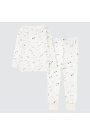 UNIQLO Pajamas - Toddler Ribbed Cotton Long-Sleeve Pajamas, , Ages 12-18M