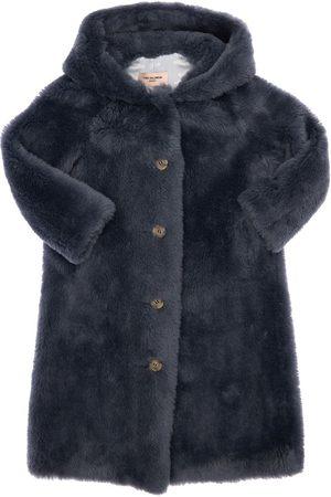 YVES SALOMON Hooded Faux Fur Coat