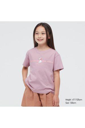 UNIQLO Girls Short Sleeve - Girl's Disney Furry Friends Ut (Short-Sleeve Graphic T-Shirt), Purple, 3Y