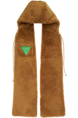Bottega Veneta Women Scarves - Hooded Teddy Shearling Scarf