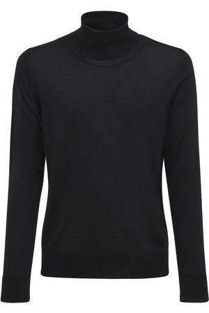 The Row Men Turtlenecks - Emile Wool & Silk Turtleneck Sweater